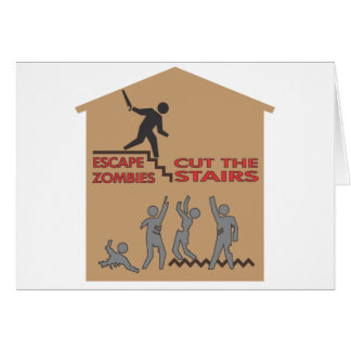 Cut the Stairs! Greeting Card
