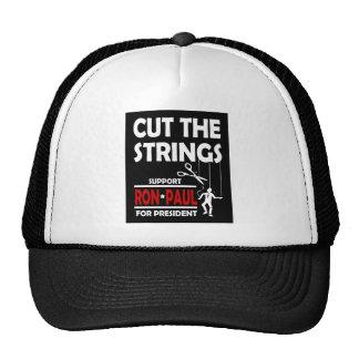 cut the strings trucker hat