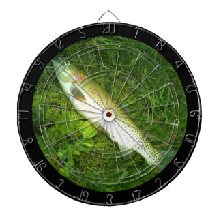 cut throat trout,  fly fishing dart board
