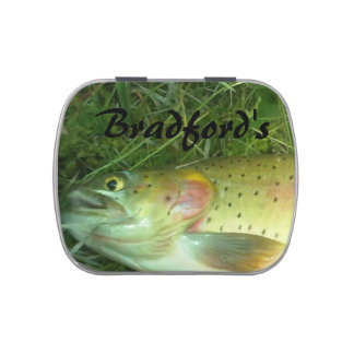 cut throat trout,  fly fishing tin jelly belly tins