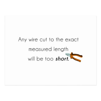 Cut too short! postcard