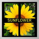 Cut Up Sunflower Print