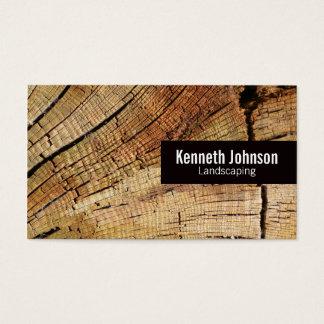 Cut Wood Business Card
