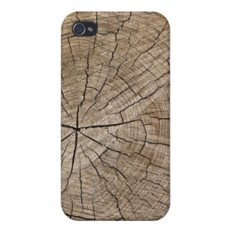 Cut Wood Cross-Section Photo Texture iPhone 4 Case