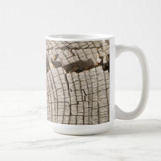 Cut wood cross-section texture Mug