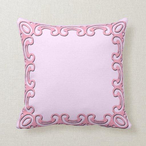Cut-work Lace Frame Throw Pillow
