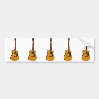 Cutaway Acoustic Guitar Bumper Sticker