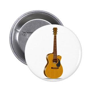 Cutaway Acoustic Guitar Button
