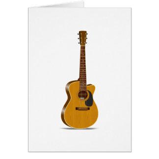 Cutaway Acoustic Guitar Cards