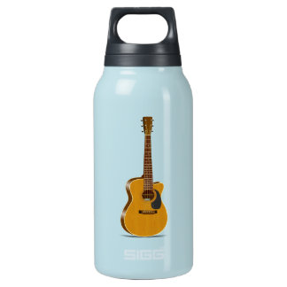 Cutaway Acoustic Guitar Insulated Water Bottle