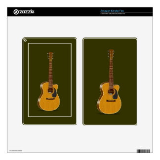 Cutaway Acoustic Guitar Kindle Fire Decal