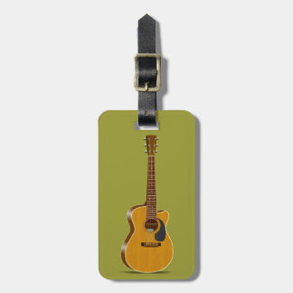 Cutaway Acoustic Guitar Luggage Tag