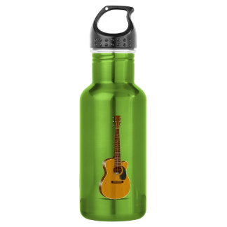 Cutaway Acoustic Guitar Stainless Steel Water Bottle