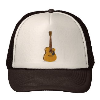 Cutaway Acoustic Guitar Trucker Hat