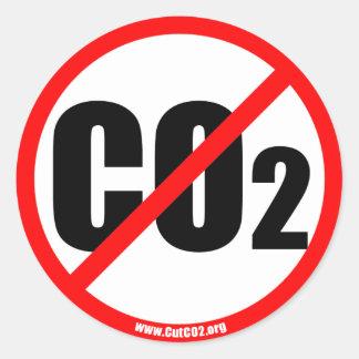 CutCO2.org - 100% Organic Propoganda Classic Round Sticker