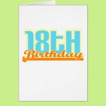 "Cute, ""18th Birthday"" design Card"