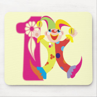 Cute 1st Birthday Jester Mouse Pad