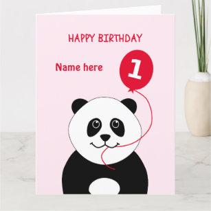 1st Babys Name Birthday Cards Zazzle