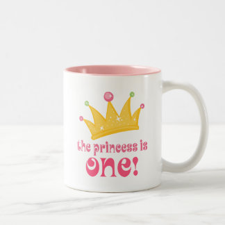 Cute 1st Birthday The Princess Is One Gift Two-Tone Coffee Mug