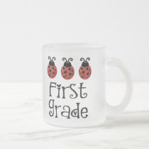 Cute 1st Grade Frosted Glass Coffee Mug