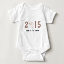 Cute 2015 - Year of the Sheep design Baby Bodysuit