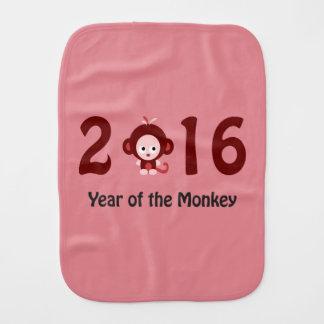 Cute 2016 year of the monkey baby burp cloth