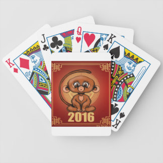 Cute 2016 Year of the Monkey Bicycle Playing Cards