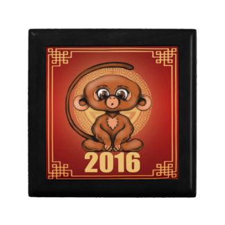 Cute 2016 Year of the Monkey Keepsake Box