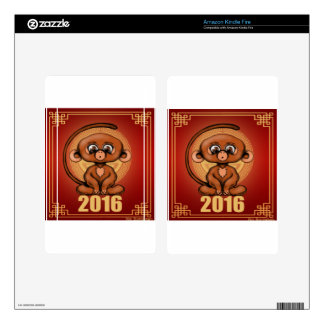 Cute 2016 Year of the Monkey Skins For Kindle Fire