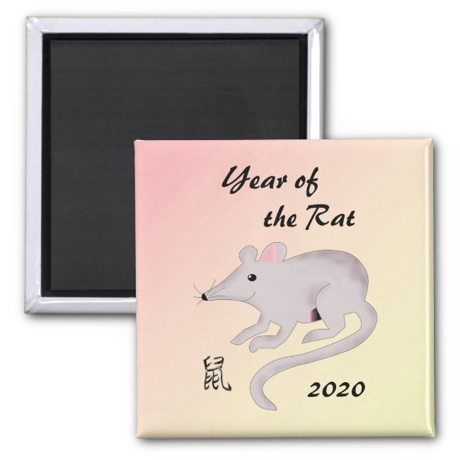 Cute 2020 Chinese New Year of the Rat Magnet
