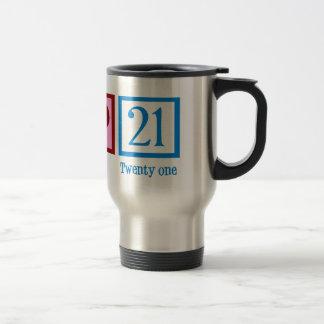 Cute 21st Birthday 15 Oz Stainless Steel Travel Mug