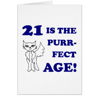 Cute 21st Birthday Present Cards