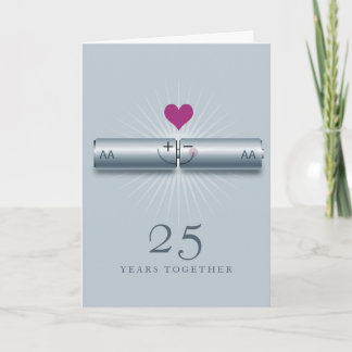 Cute 25th Wedding Anniversary Card