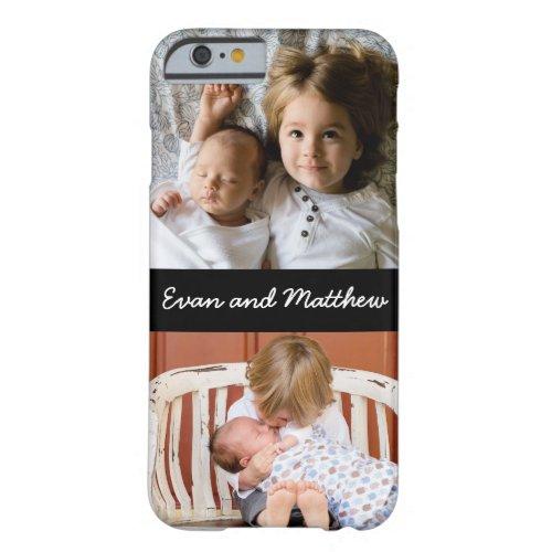 Cute 2 Photo Personalized Kids iPhone 6 6s Case Phone Case