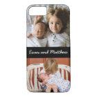 Cute 2 Photo Personalized Kids iPhone 8 7 Case