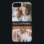 "Cute 2 Photo Personalized Kids iPhone 8 7 Case<br><div class=""desc"">Use two 2 cute photos and personalize with your kids names to make this special Apple iPhone 7 8 case just for you.</div>"