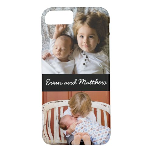 Cute 2 Photo Personalized Kids iPhone 8 7 Case Phone Case