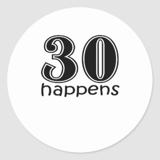 Cute 30 Happens Stickers