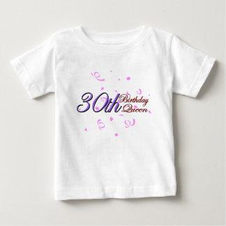 "Cute, ""30th Birthday Queen"" Baby T-Shirt"