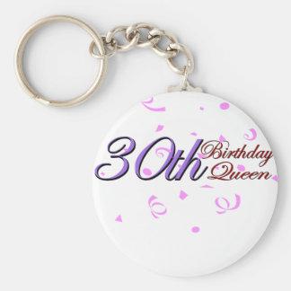 """Cute, """"30th Birthday Queen"""" Keychain"""
