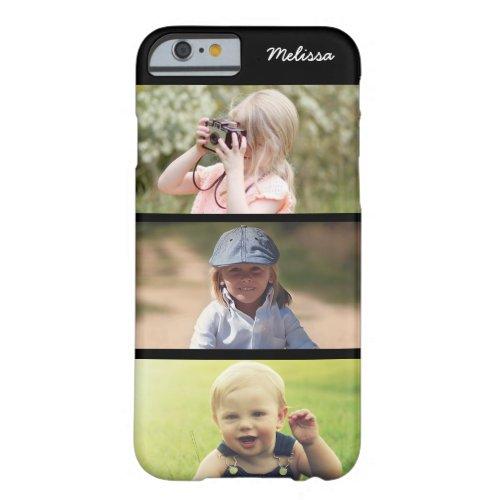 Cute 3 Photo Personalized Kids iPhone 6 6s Case Phone Case