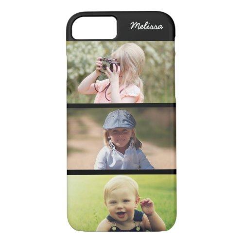 Cute 3 Photo Personalized Kids iPhone 8 7 Case Phone Case