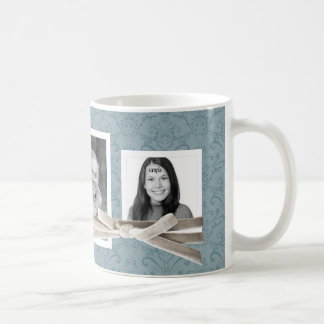 Cute 3 Photos Wrapped with Velvet ribbon bow Coffee Mug