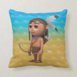 Cute 3d American Indian Bow and Arrow Pillow