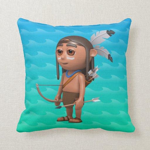 Cute 3d American Indian Bow and Arrow Throw Pillows
