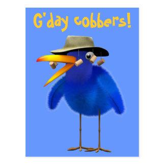 Cute 3d Australian Bird (editable) Postcard