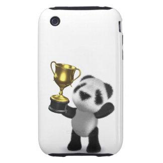Cute 3d Baby Panda Gold Cup iPhone 3 Tough Case