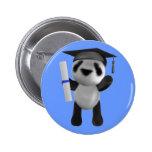 Cute 3d Baby Panda Graduate (editable) 2 Inch Round Button