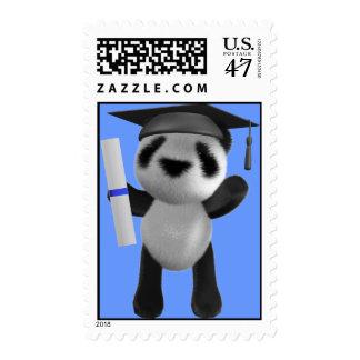 Cute 3d Baby Panda Graduate (editable) Stamp