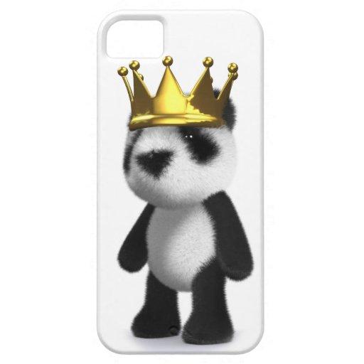 Cute 3d Baby Panda King iPhone 5 Covers